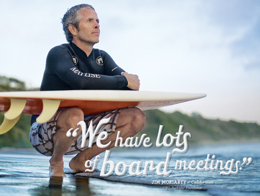 JIM MORIARTY,        CEO, Surfriders Foundation
